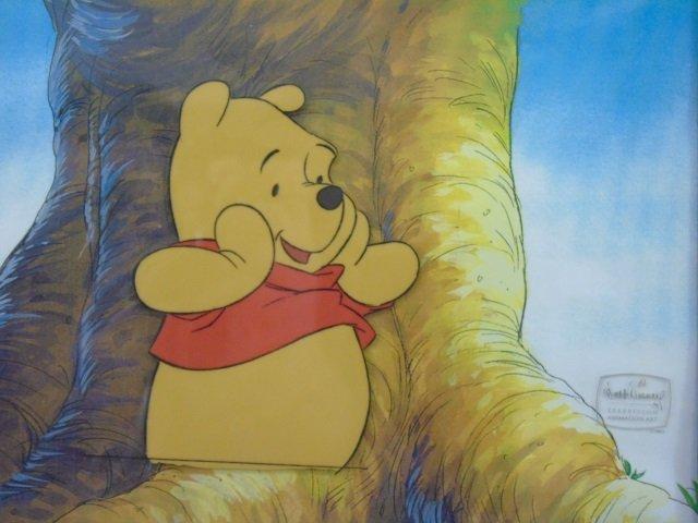 Winnie the Pooh TV Animation Cel Worried Pooh Bear - 2