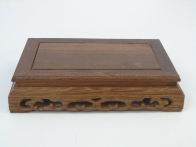 Two Carved Chinese Wood Bases for Display - 2