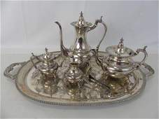 5 Piece Japanese 950 Sterling Tea  Coffee Service