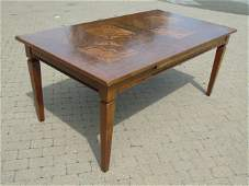 Minton Spidell Contemporary Inlay Top Dining Table