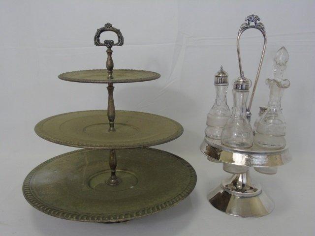 Antique Victorian Silver Cruet & Dessert Caddy