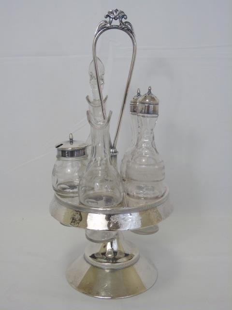 Antique Victorian Silver Cruet & Dessert Caddy - 4