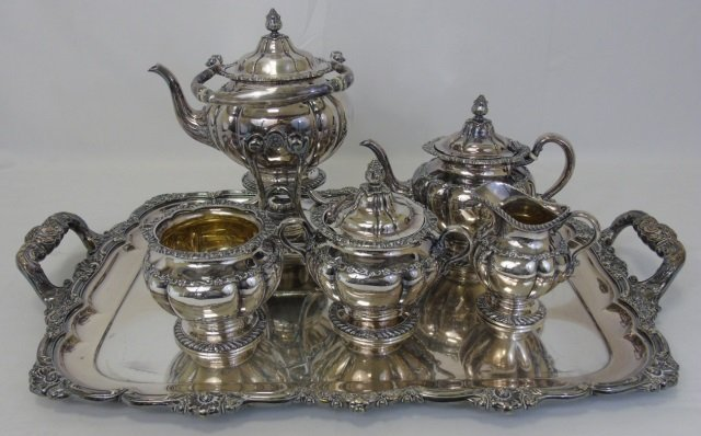 Antique Tiffany & Co Silver Six Piece Service