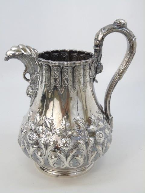 Antique Tiffany Amp Co Sterling Silver Water Pitcher