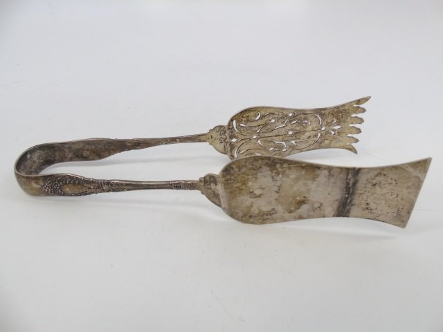 Antique English 19th C Sterling Silver Server - 4