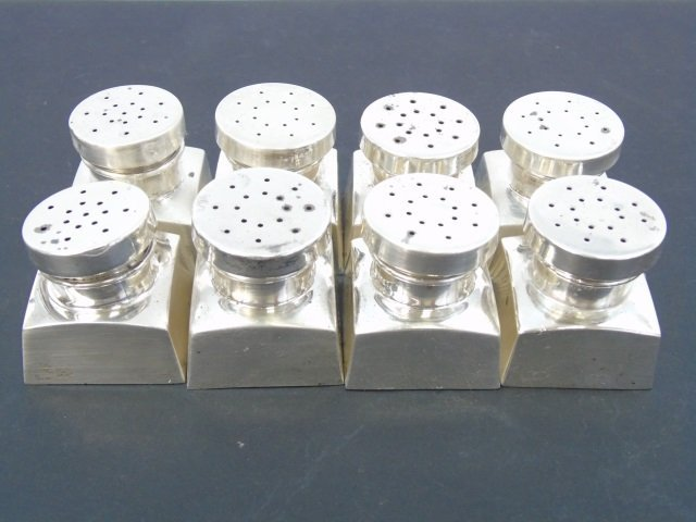 Set of Eight Sterling Silver Salt & Pepper Shakers