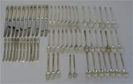 Royal Danish Sterling Silver Flatware Service