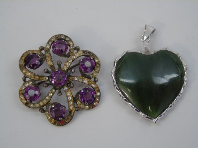 Estate Lot of Vintage Costume Jewelry Pieces - 7