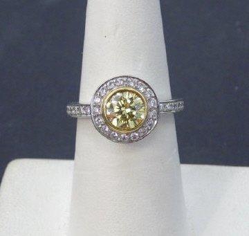 Custom 2.8 Carat Fancy Intense Yellow Diamond Ring