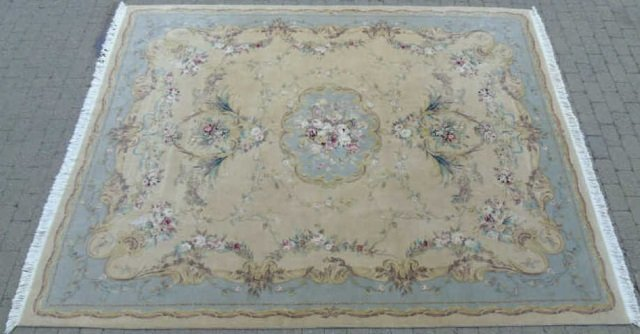 Quality Contemporary Aubusson Hand Knotted Carpet