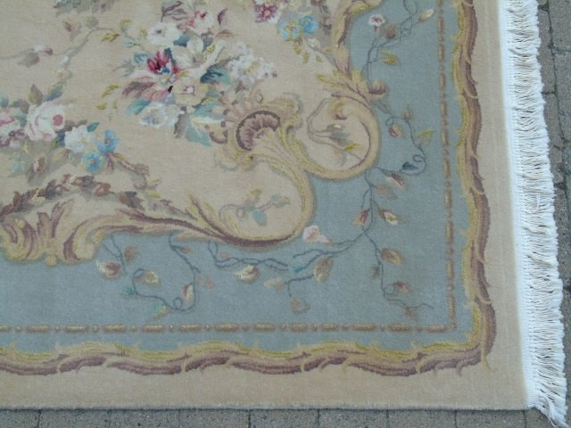 Quality Contemporary Aubusson Hand Knotted Carpet - 5