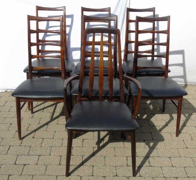 Mid Century Modern Niels Koefoed Dining Chairs