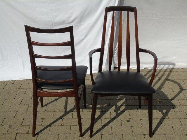 Mid Century Modern Niels Koefoed Dining Chairs - 4