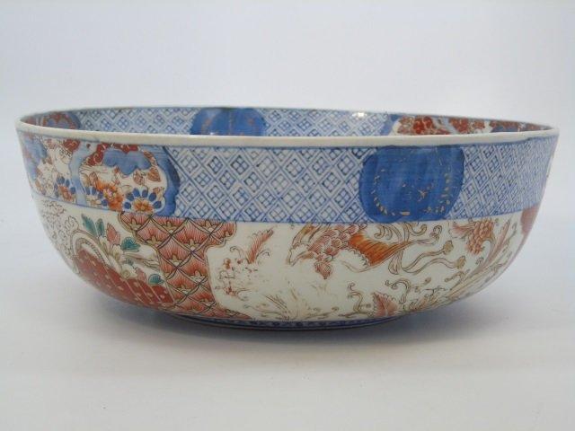 Large Antique Japanese Imari Porcelain Bowl - 2