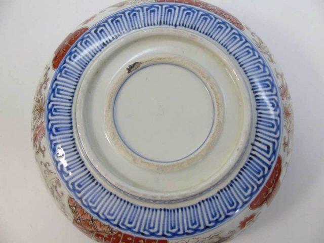Large Antique Japanese Imari Porcelain Bowl - 5