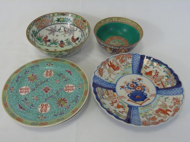 Six Assorted Chinese & Japanese Porcelain Items