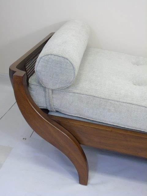 Contemporary Traditional Carved Wood Frame Chaise - 2