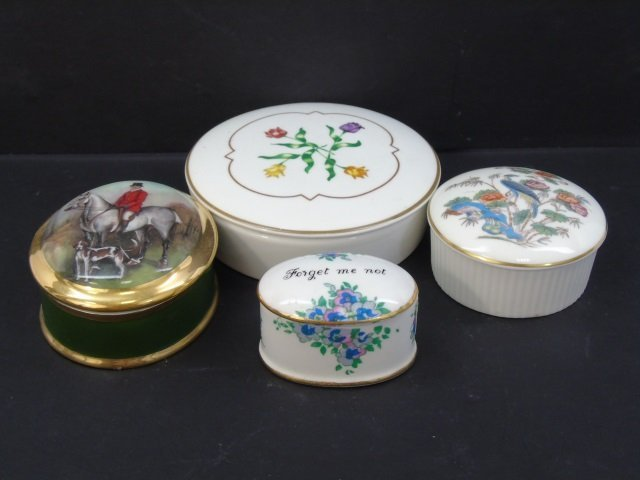 Group of 4 Vintage Porcelain Miniature Boxes