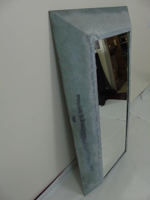 Galvanized Metal Contemporary Modern Mirror - 3