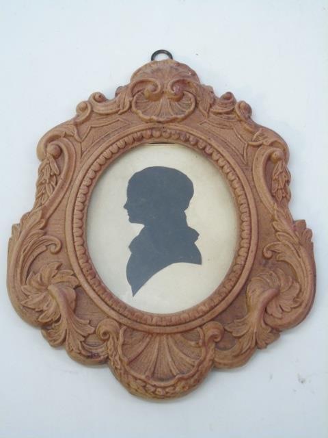 Pair Antique William James Hubard Silhouettes - 2