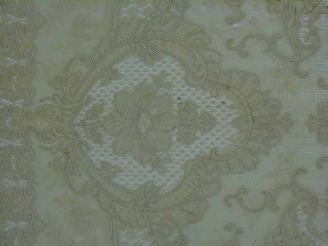 Antique 19th C Lace & Embroidery Table Cloth - 5