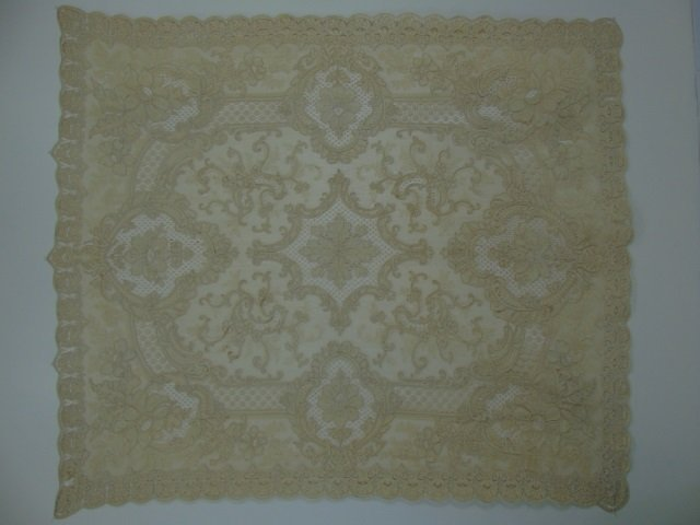 Antique 19th C Lace & Embroidery Table Cloth - 7