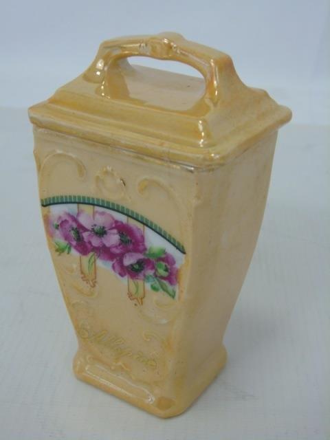 Antique German Porcelain Kitchen Canister Set - 2