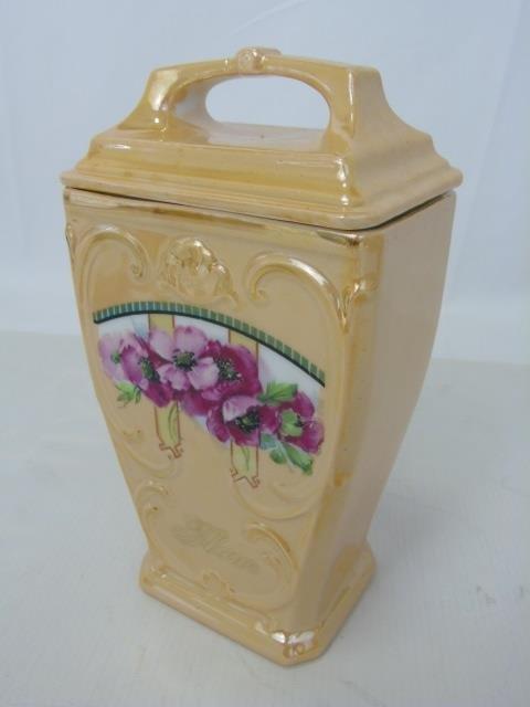 Antique German Porcelain Kitchen Canister Set - 5