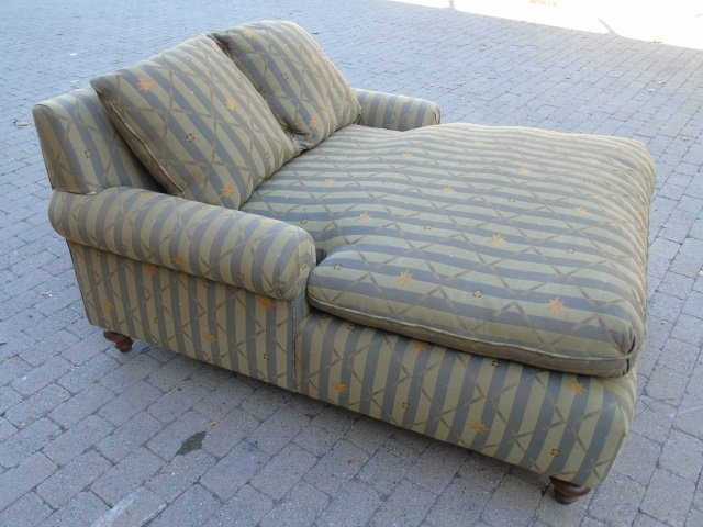 Contemporary Upholstered Chaise Lounge Armchair