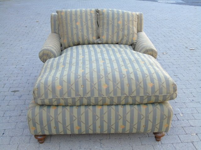 Contemporary Upholstered Chaise Lounge Armchair - 2