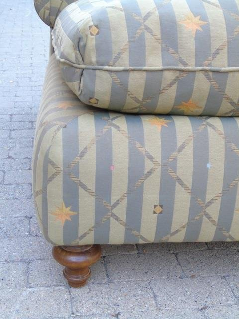 Contemporary Upholstered Chaise Lounge Armchair - 3