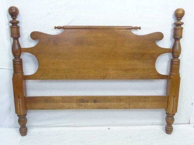 Vintage Maple Tone American Full Size Bed Frame - 2