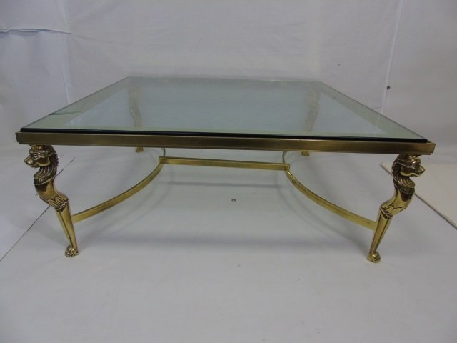 Contemporary Karges Brass and Glass Cocktail Table - 4
