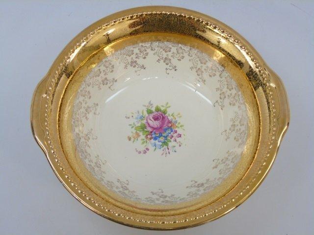 Gold Decorated Floral Porcelain Dessert Service - 2