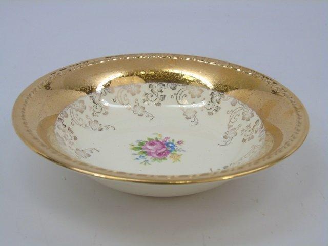 Gold Decorated Floral Porcelain Dessert Service - 3