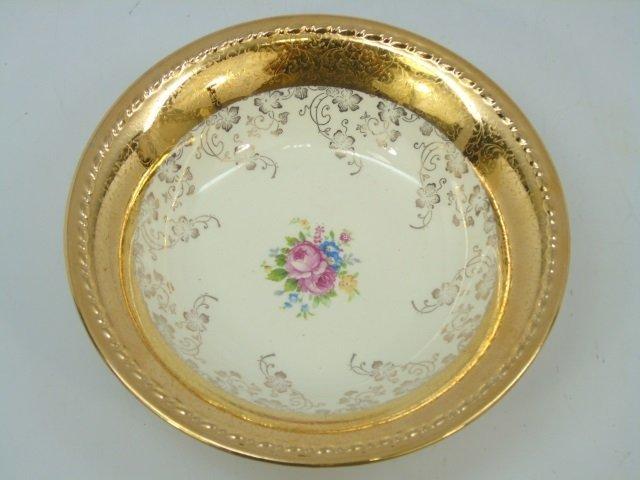 Gold Decorated Floral Porcelain Dessert Service - 4