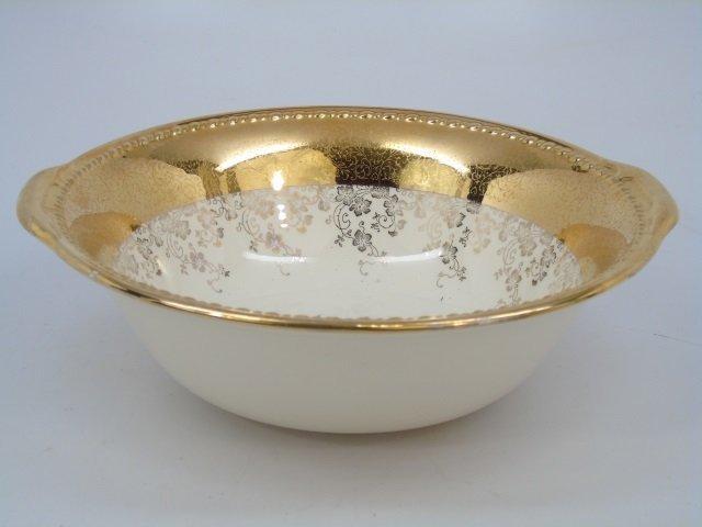 Gold Decorated Floral Porcelain Dessert Service - 5