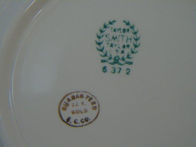 Gold Decorated Floral Porcelain Dessert Service - 6