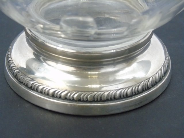 Antique Cut Crystal & Sterling Silver Compote - 3