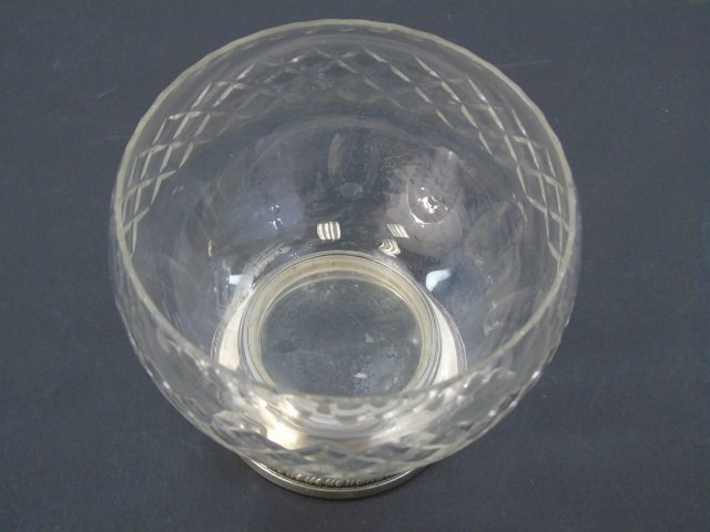 Antique Cut Crystal & Sterling Silver Compote - 4