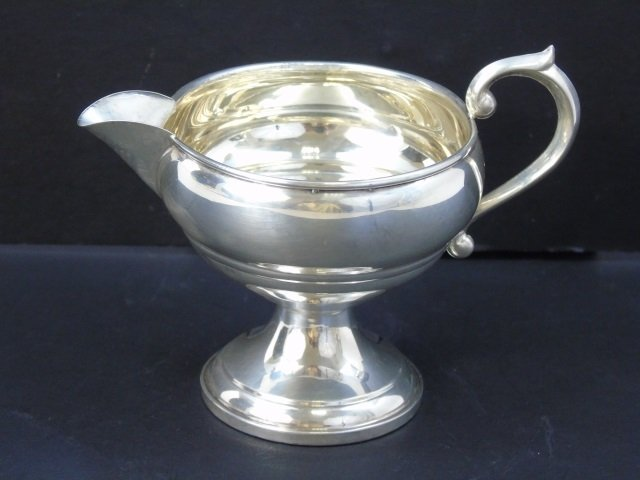 Antique Sterling Silver - Sugar, Creamer & Cruet - 4