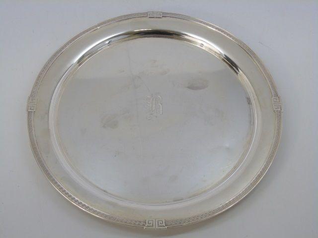 Gorham Round Sterling Silver Serving Tray