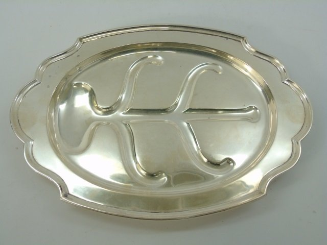 Sterling Silver Footed Meat Serving Tray - 2