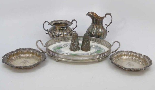 Assorted Sterling & Silver Plate Serving Items