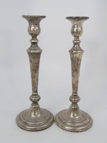 Set of Six Sterling Silver Candlesticks - 4