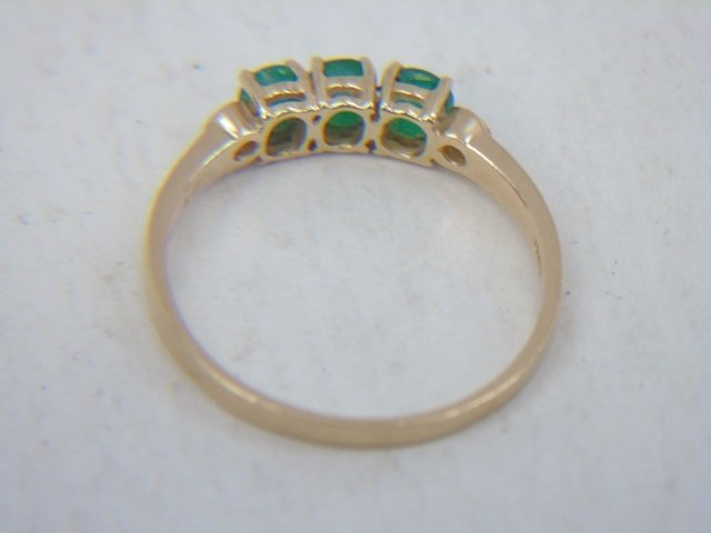 Estate Yellow Gold Emerald Diamond & Enamel Rings - 10