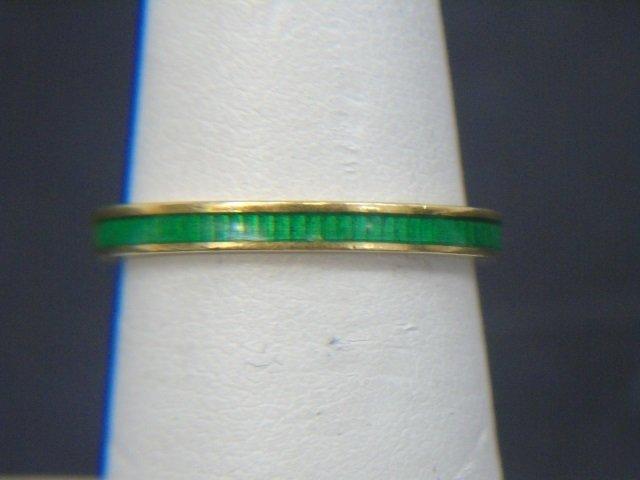 Estate Yellow Gold Emerald Diamond & Enamel Rings - 3