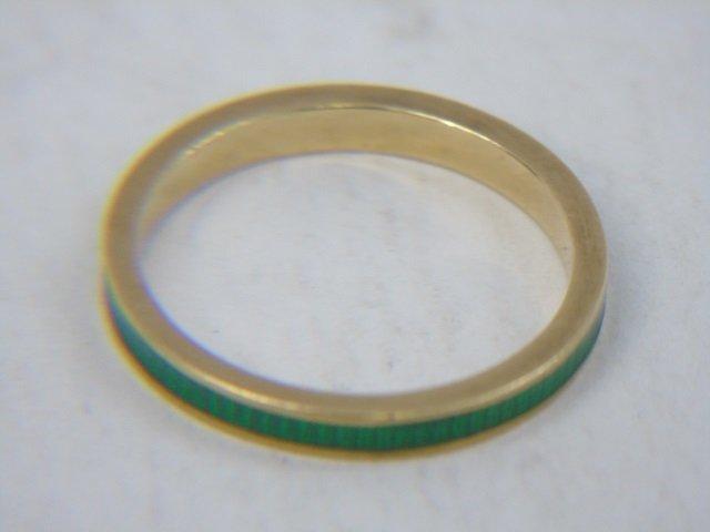 Estate Yellow Gold Emerald Diamond & Enamel Rings - 7