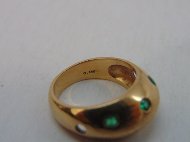 Estate 14kt Yellow Gold & Emerald Ring - 3