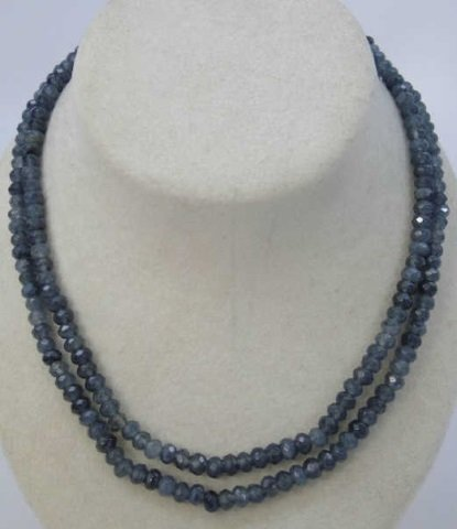 Pair of Faceted Beaded Spinel Necklace Strands